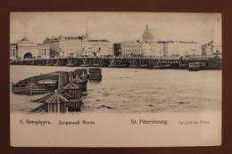 SAINT PETERSBOURG - LE PONT DU PALAIS - Russie