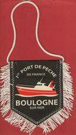 Boulogne Sur Mer-fanion-coupe De France 2005-1/4 De Finale-boulogne Auxerre- - Habillement, Souvenirs & Autres
