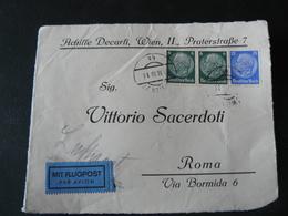 1938 FRONTESPIECE OF LETTER GO FROM GERMANY TO ROME ..//..FRONTESPIZIO DI LETTERA VIAGGIATA PER ROMA - Deutschland