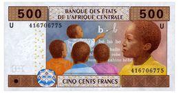 CENTRAL AFRICAN STATES 500 FRANCS 2002 Pick 206U Unc - États D'Afrique Centrale
