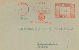 """Francotyp """"C"""" 1941 Kassel NSDAP Gau Kurhessen Adolf Hitler Haus Reichsadler - Deutschland"""