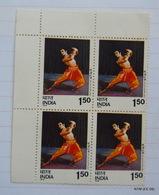 INDIA 1975 INDIAN CLASSICAL DANCES. Block Of 4 MNH - Hojas Bloque