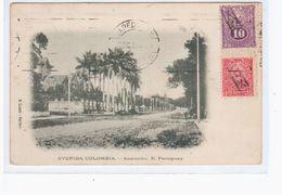 Paraguay Asuncion Avenida Colombia . Ca 1920 OLD POSTCARD 2 Scans - Paraguay