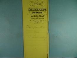 Acte Notarié 1862 Vente Par Carlier De Fontaine-L'Evêque à Hardy De Vaulx   /016/ - Manuscrits