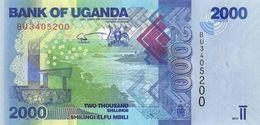 UGANDA 2000 SHILLINGS 2017 P-50d UNC [UG155d] - Uganda