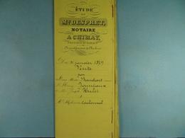 Acte Notarié 1879 Vente Par Baudart Jouniaux Hulet à Coulonval De Baileux  /017/ - Manuscrits