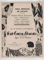 Porte Gacon Descottes St Rambert En Bugey Croix Rousse 1925 Soieries Lyon Digonnet Rare - Publicités
