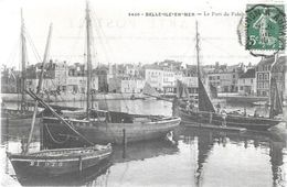 Morbihan BELLE ILE EN MER Le Port Du Palais Beau Plan Bateau - Belle Ile En Mer