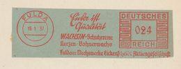 "Francotyp ""C"" 1937 Fulda Wachsin Schuhcreme Kerzen Bohnerwachs Eickenscheidt - Marcofilia - EMA ( Maquina De Huellas A Franquear)"