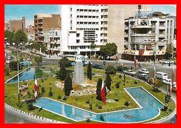 CPSM/gf TEHERAN (Iran)   Ferdowsi Circle, Animé, Commerces, Voitures...C292 - Iran
