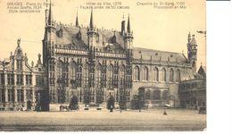 Brugge - Bruges - CPA - Place Du Bourg - Hôtel De Ville 1376 - Chapelle Du St-Sang - Brugge