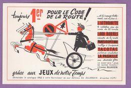 Buvard 1er Pour Le Code De La Route Jeux De Notre Temps Edmond Dujardin Arcachon - Automotive