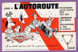 Buvard Jouez A L Autoroute Code De La Route  Jeux De Notre Temps Edmond Dujardin Arcachon - Automobile