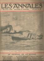 Journal LES ANNALES , 1 Novembre 1914 , Le Journal De La Guerre , Croiseur Anglais , Militaria  , Frais Fr : 2.50€ - Journaux - Quotidiens