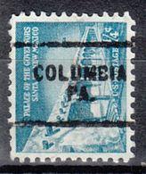 USA Precancel Vorausentwertung Preo, Locals Pennsylvania, Columbia 703 - Vereinigte Staaten