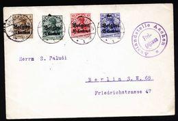 A5338) Besetzungen I.WK Belgien Brief Brüssel 6.2.15 N. Berlin - Occupation 1914-18