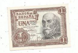 Billet , Banco De ESPANA , 1953 , Una , 1 Peseta ,2 Scans , Unc , Neuf - [ 3] 1936-1975 : Regency Of Franco
