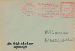 1950 Sigmaringen Ortskrankenkasse Krankenkasse Eigennutz Volkes Schutz - Briefe U. Dokumente