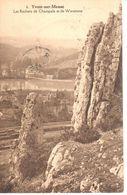 Yvoir - CPA - Yvoir Sur Meuse - Les Rochers De Champale Et De Waremme - Yvoir