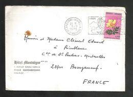 ANDORRE LETTRE POUR LA FRANCE 1975 - Marcophilie - EMA (Empreintes Machines)