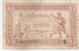 1 FRANC TRESORERIE AUX ARMEES 1917 - Treasury
