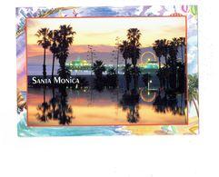 Grande Cpm - California - SANTA MONICA - Fête Foraine Manège Grande Roue - United States