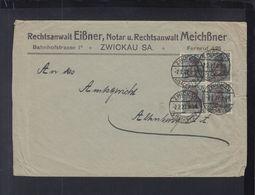 Dt. Reich Brief 1922 Zwickau - Briefe U. Dokumente