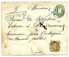 Enveloppe 4 + N° 32 Càd BRUGES 15 JUIL 1882 En RECOMMANDE V. Ruddervoorde. Arr. Au Verso 16 JUIL. - Covers