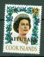 Aitutaki: 1972   Flowers 'Aitutaki' OVPT   SG48   $2   Used - Aitutaki