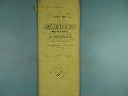 Acte Notarié  1861 Partage Lecoffre De Baileux /2/ - Manuscrits