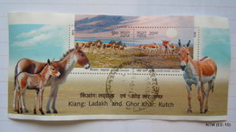 INDIA 2013 Kiang: Ladakh And Ghor Khar: Kutch. A Pair Of 2 Stamps. 5 Rs. And 20 Rs. USED - India