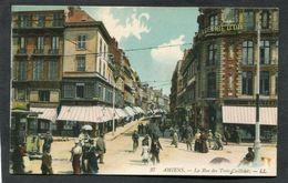 CPA - AMIENS - La Rue Des Trois Cailloux, Très Animé - Amiens