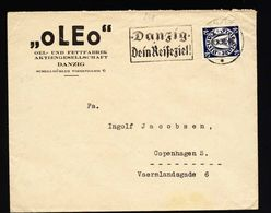 A5339) Danzig Brief 6.8.37 N. Kopenhagen Mit EF Mi.248 - Deutschland
