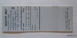 Royal Caribbean, Shore Excursion Payment Receipt For Sceninc Boat Transfer (Ship: Legend Of The Seas). - Boats