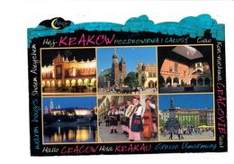 Cpsm - Pologne - Kraków - Multivues Musiciens Accordéon Contrebasse Violon - Calèche Cheval - - Cartes Postales