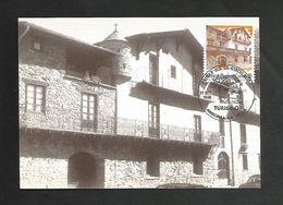 ANDORRE ESPAGNOL CARTE MAXIMUM 1990 TOURISME - Spanisch Andorra
