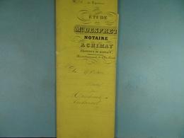 Acte Notarié  1861  Vente Par Marchand De Rièzes à Coulonval De Vaulx /3/ - Manuscrits