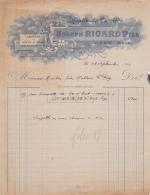30 785 UZES GARD 1921 MOULIN DE CARRIERE Farine JOSEPH RICARD FILS ( Minoterie ) Grains   A MARTIN Malterie A LE PUY - France