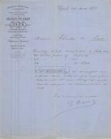 30 786 UZES GARD 1881 Mercerie Bonneterie GUSTAVE PELADAN Papeterie Parfumerie Ganterie A ABADIE - 1800 – 1899