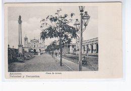 Paraguay Asuncion Plaza De Armas Ca 1910 OLD POSTCARD 2 Scans - Paraguay