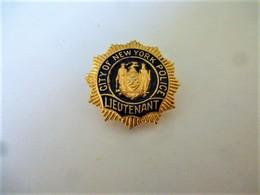BROCHE CITY OF NEW YPRK POLICE LIEUTENANT / Fermeture Epingle  / 33NAT - Police