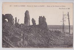Cléry-sur-Somme - Ruines De L'Eglise - Autres Communes