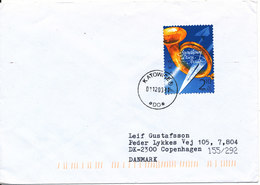 Poland Cover Sent To Denmark 1-12-2003 Single Franked - 1944-.... Republic