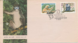 India FDC 1-10-1983 INDIAN WILD LIFE MONKEYES With Very Nice Cachet - FDC