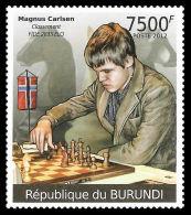 Burundi Magnus Carlsen Chess Norway 1v Stamp MNH - Famous People