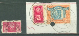 South Africa: 1943/46   KGVI (War Effort) Revenue Selection   Used - South Africa (...-1961)