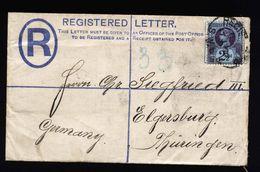 A5344) UK Grossbritannien Reg Cover 17.7.90 To Elgersburg / Germany - 1840-1901 (Viktoria)
