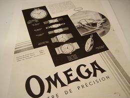 ANCIENNE PUBLICITE  MONTRE OMEGA 1931 - Autres