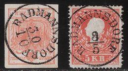 "Österr. ,Stp. "" RADMANNSDORF "" - Krain - , #a226 - 1850-1918 Empire"