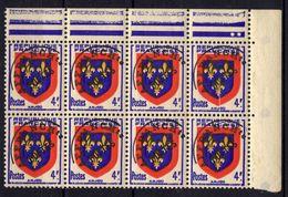 FRANCE Préo 105 ** MNH Bloc De 8 Timbres-poste Armoirie Wappen Arms Of Coat Ecu Blason Monnaie Gauloise - 1953-1960